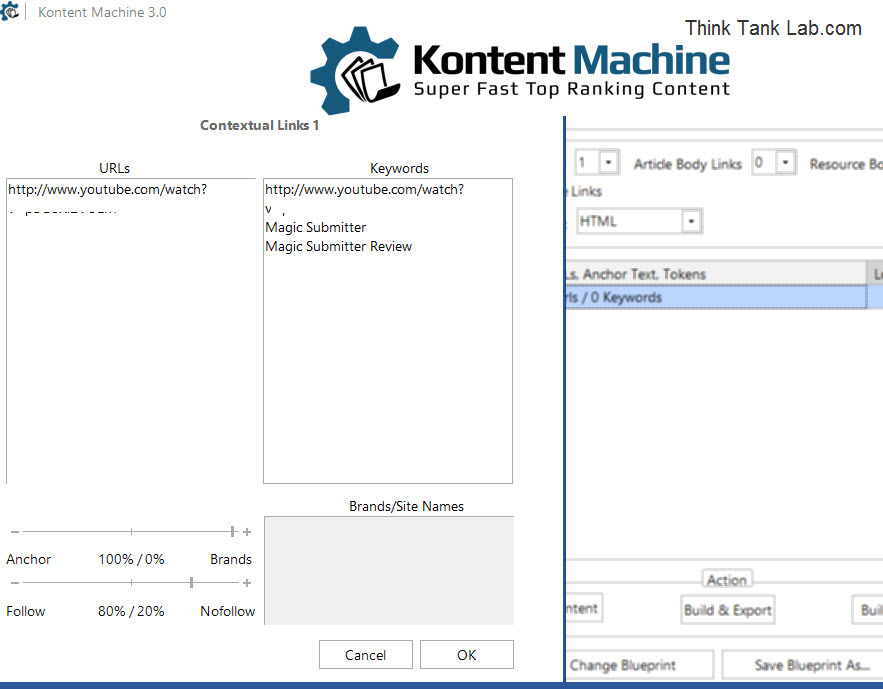 Inserting Links with Kontent Machine