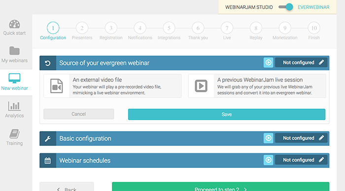 Setting up your Everwebinar campaign
